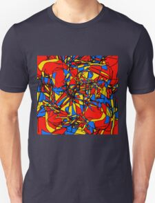 red, blue and yellow 1 Unisex T-Shirt