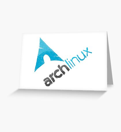 Arch Linux Logo Greeting Card