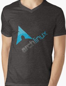 Arch Linux Logo Mens V-Neck T-Shirt