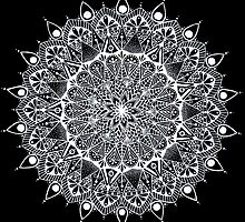 Black and white mandala by LeonniesArt