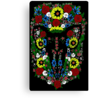 Goat's skull in Flowers Canvas Print