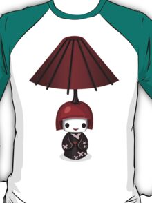 Asian Lamp Head Doll, Digital Illustration T-Shirt