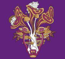 Psychedelic Mushroom Wolf T-Shirt