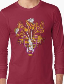Psychedelic Mushroom Wolf Long Sleeve T-Shirt