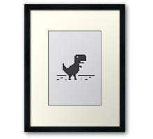 Google Chrome's Dino Framed Print