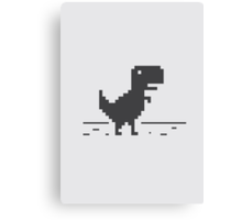 Google Chrome's Dino Canvas Print