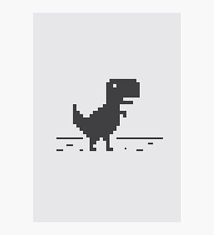 Google Chrome's Dino Photographic Print