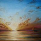 Sunset Yachting by Cherie Roe Dirksen