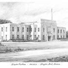 Louisiana courthouse 4 drawing by Mike Theuer