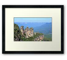 Three Sisters, Blue Mountains Framed Print