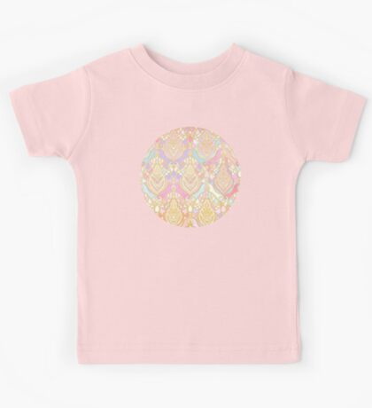Rosy Opalescent Art Deco Pattern Kids Tee