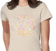Rosy Opalescent Art Deco Pattern Womens Fitted T-Shirt