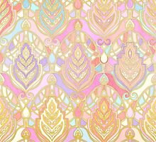 Rosy Opalescent Art Deco Pattern by micklyn