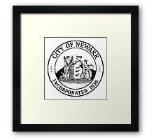 Seal of Newark Framed Print