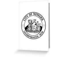Seal of Newark Greeting Card