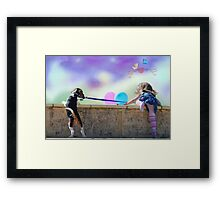 Climbing to new heights Framed Print