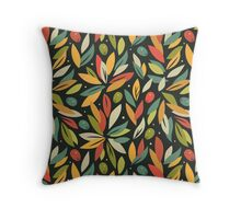 Olive branches Throw Pillow
