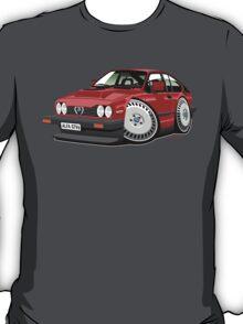 Alfa Romeo GTV6 red caricature T-Shirt