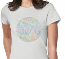 Jade & Blue Enamel Art Deco Pattern Womens Fitted T-Shirt