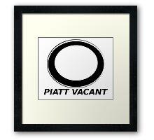 Piatt Vacant Framed Print