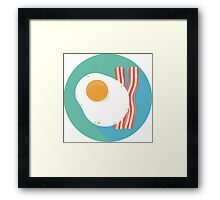 Bacon and Eggs Icon Framed Print