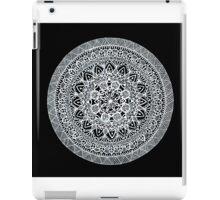 Black and white mandala no.2 iPad Case/Skin