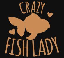 Crazy Fish lady with cute little goldfish One Piece - Long Sleeve