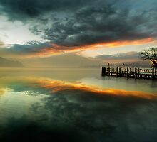 Smoke on the water and fire in the sky by Delfino