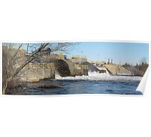 Hydro Dam- Trent River- Campbellford Ontario Canada Poster