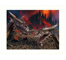 Dragons World Art Print