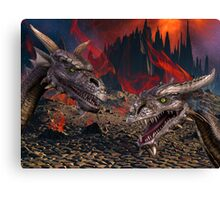 Dragons World Canvas Print
