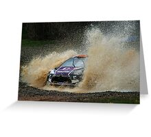 Peter van Merksteijn Rally Australia Greeting Card