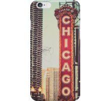 Vintage Chicago Theatre Sign iPhone Case/Skin
