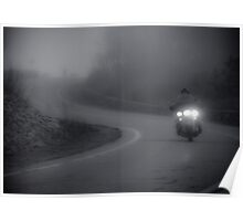 Foggy Bike Ride Poster