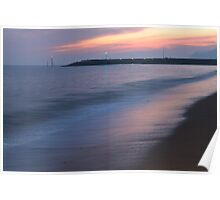 Late Evening Seascape Poster