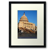U. S. Capitol West Face  Framed Print