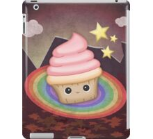 Sweet cupcake on a rainbow iPad Case/Skin
