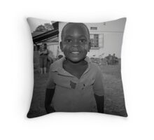 Child of a couple living in the area. Soroti Uganda Throw Pillow