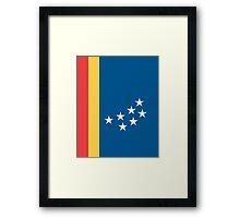 Flag of Durham, North Carolina Framed Print