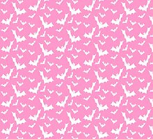 Pastel Goth Vampire Bats (Pink / White) by PastelGoth