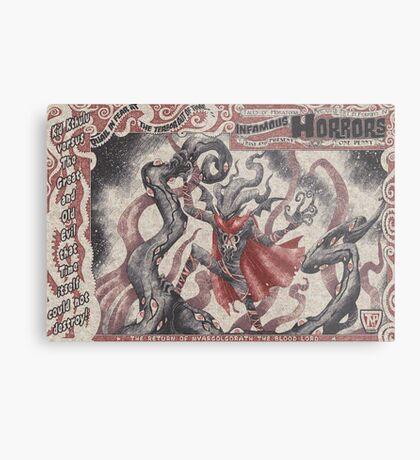 Kid Kthulu Versus NyargolgorathThe Blood Lord Metal Print