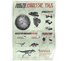 Jurassic Isle : Print Art Poster