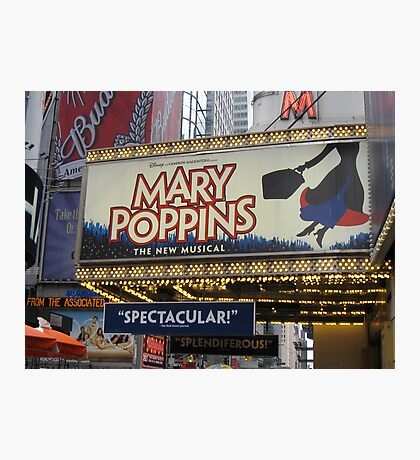 the LIGHTS ARE BRIGHT on Broadway Photographic Print