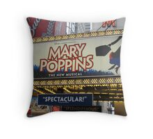 the LIGHTS ARE BRIGHT on Broadway Throw Pillow
