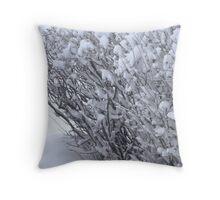 Snowball Bushes Throw Pillow