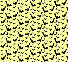 Pastel Goth Vampire Bats (Yellow / Black) by PastelGoth