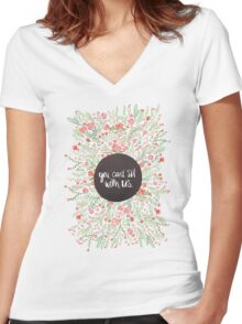 You Can't Sit with Us Women's Fitted V-Neck T-Shirt