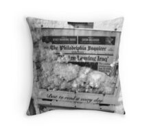 Leaving Iraq in Snow Throw Pillow