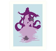 Under The Sea (baby blue) Art Print