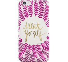 Treat Yo Self – Gold & Pink iPhone Case/Skin